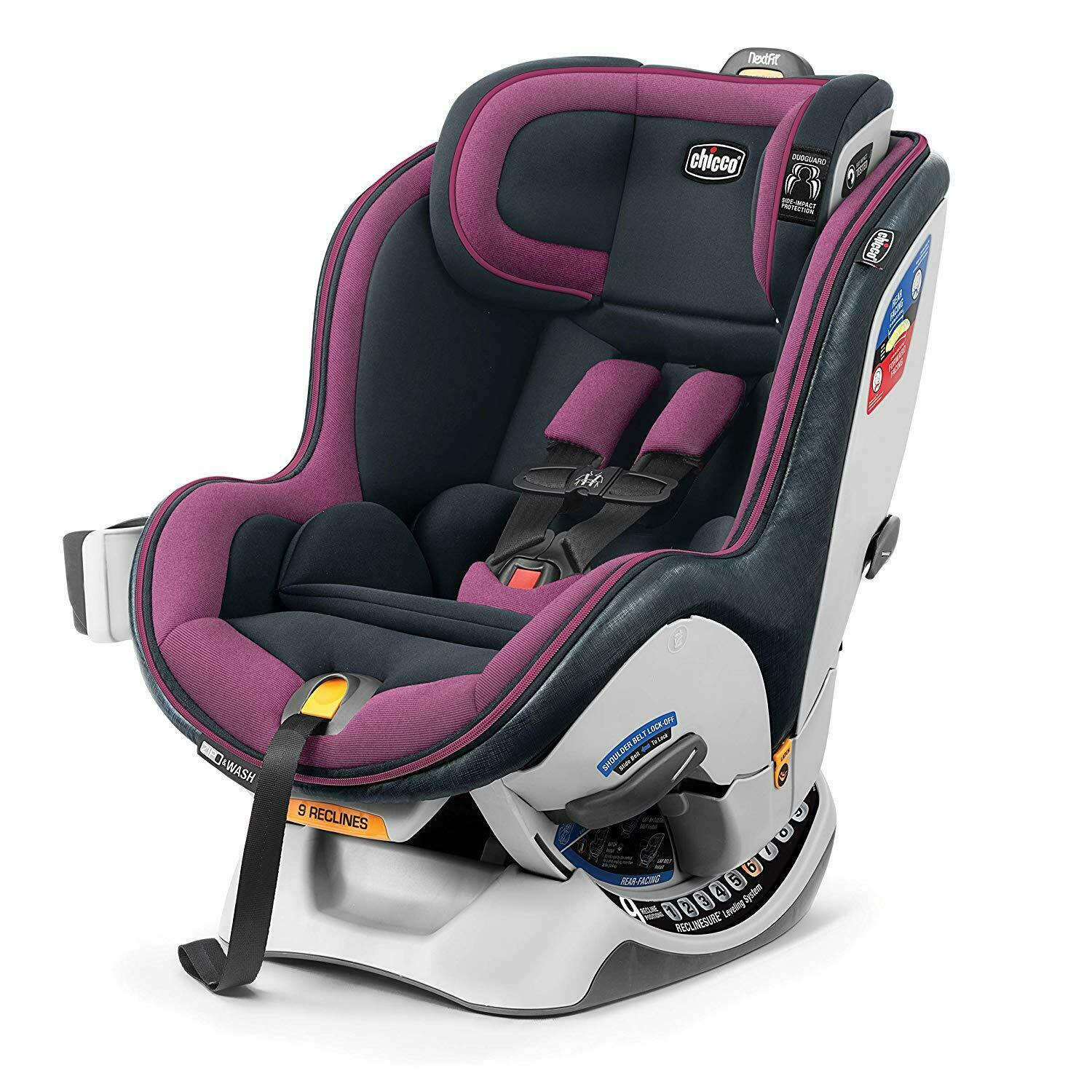 Chicco NextFit Zip Convertible Car Seat in Vivaci