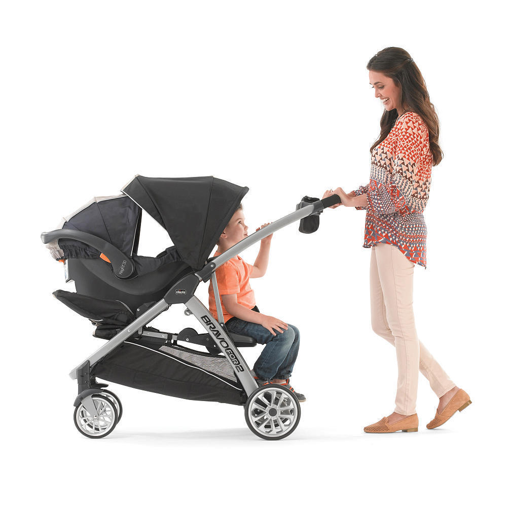 Chicco Bravo For 2 Two Passenger Stroller in Iron