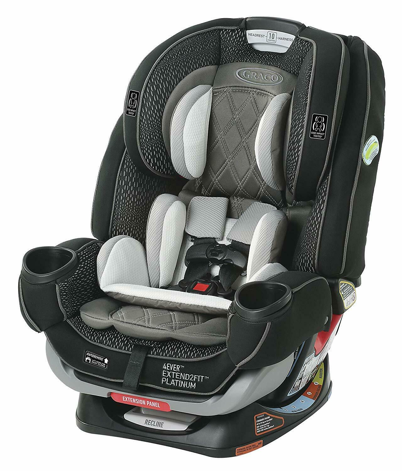 Graco 4Ever Extend2Fit Platinum 4-in-1 Car Seat in Hurley