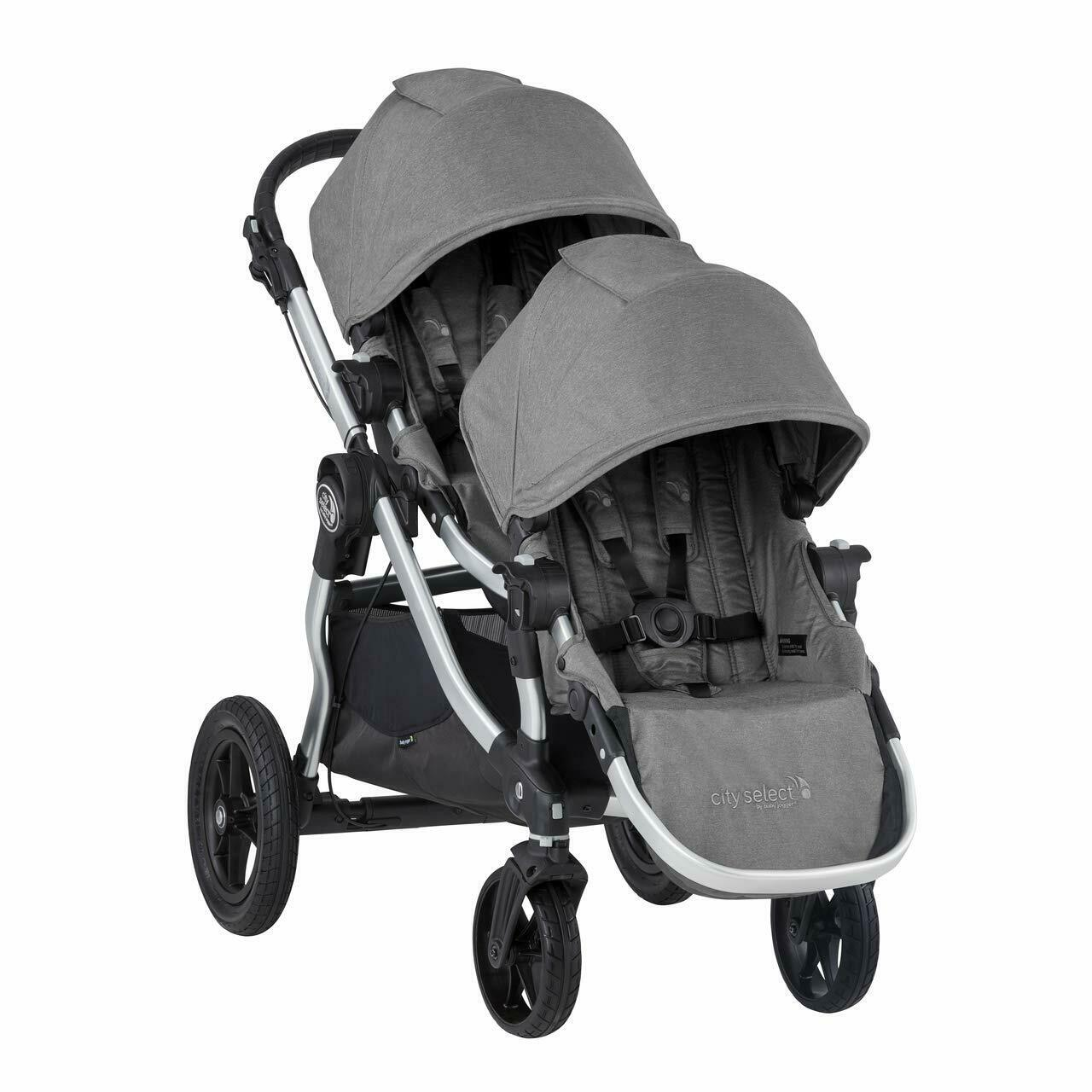 Baby Jogger 2019 City Select Double Stroller w/ 2nd Seat Kit - Slate
