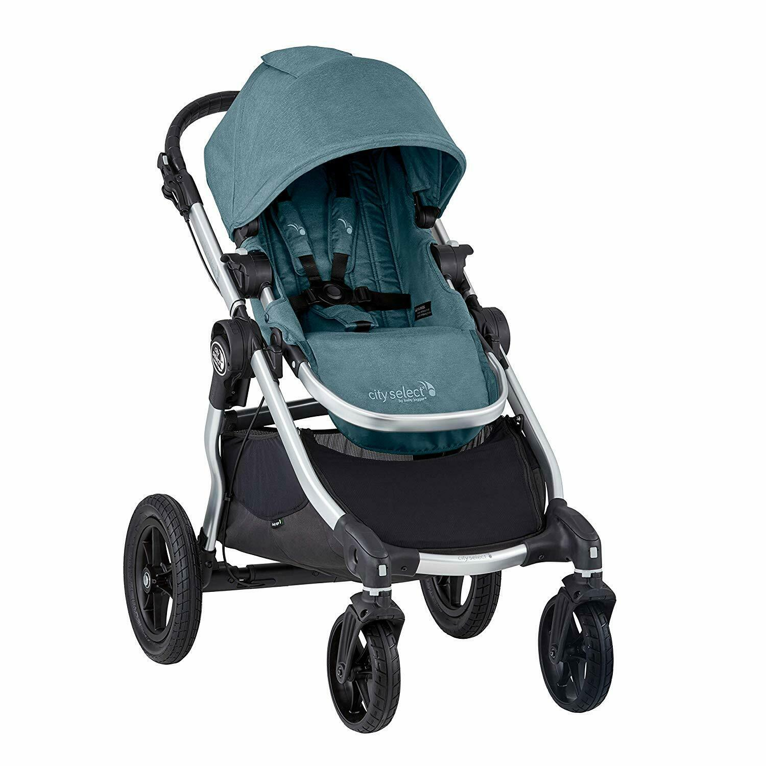Baby Jogger 2019 City Select Double Stroller w/ 2nd Seat Kit - Lagoon