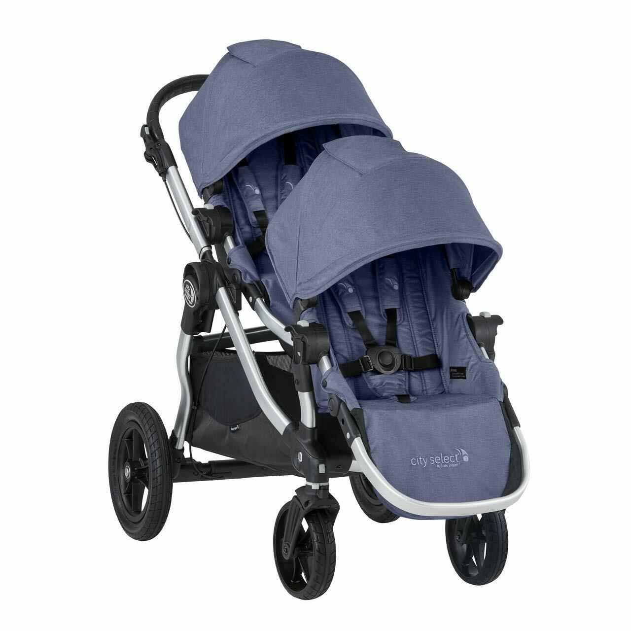 Baby Jogger 2019 City Select Double Stroller w/ 2nd Seat Kit - Moonlight