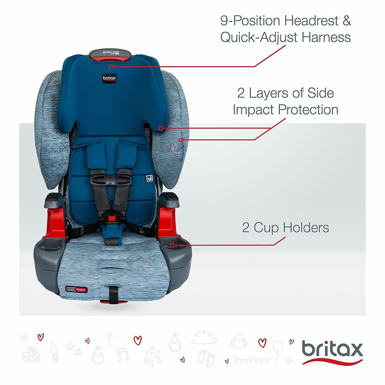 Britax Grow With You ClickTight Booster Car Seat - Asher