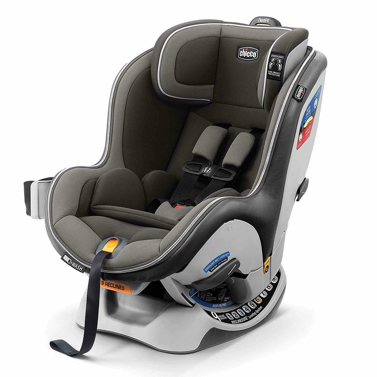 New Chicco NextFit Zip Convertible Car Seat in Nebulous