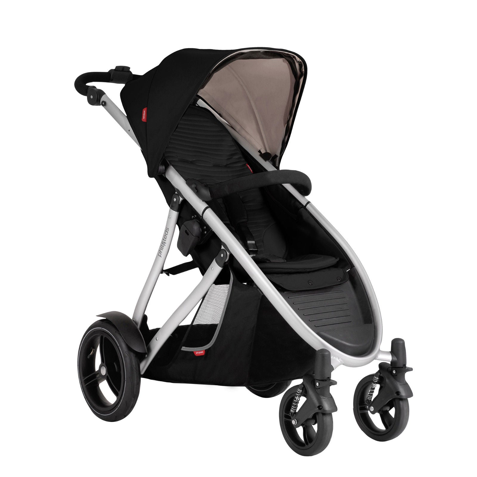 Phil & Teds New Verve V3 Stroller & Double Kit Black