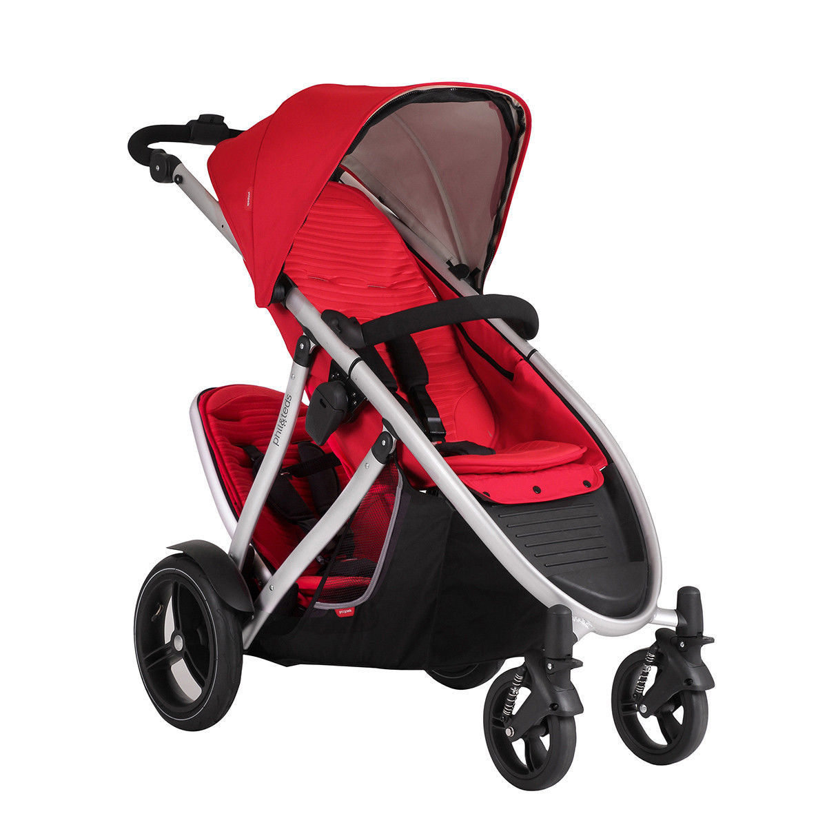Phil & Teds New Verve V3 Stroller & Double Kit Cherry Includes Double Seat