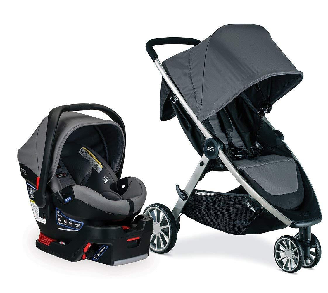 Britax B-Lively Stroller & B-Safe Ultra Travel System in Gris Grey