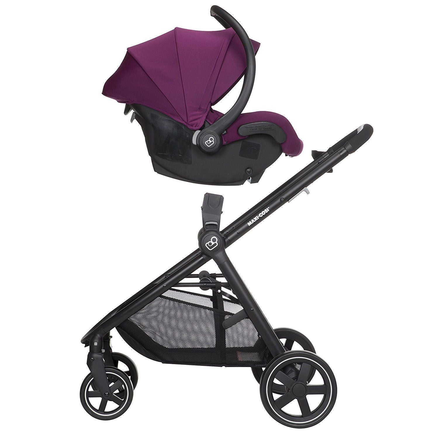 Maxi Cosi Zelia Travel System Violet Caspia- Stroller & Mico 30 Car Seat