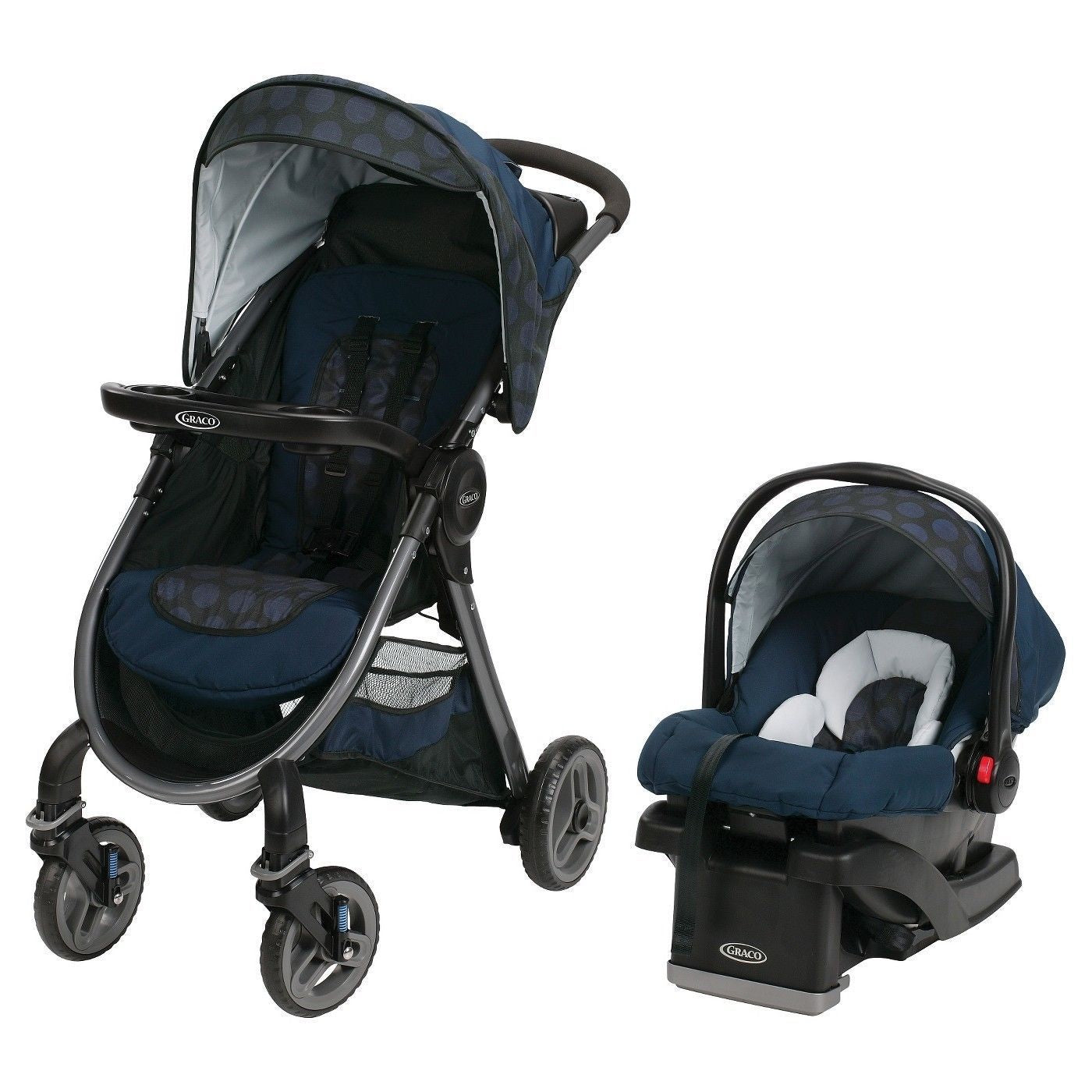 Graco Fast Action 2.0 Travel System in Gilt
