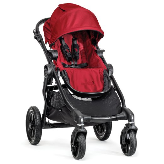 Baby Jogger City Select Single Stroller, Black/Red