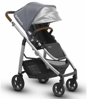 UPPAbaby 2018 CRUZ Stroller - Gregory (Blue Marl/Silver/Leather)