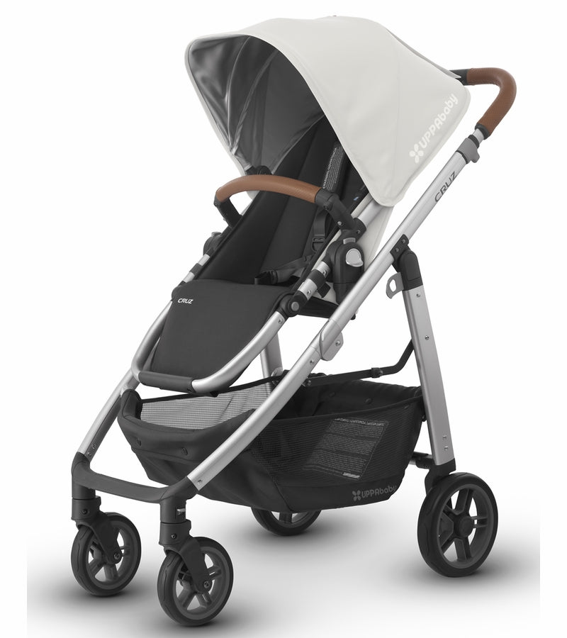 UPPAbaby 2018 CRUZ Stroller - Loic (White/Silver/Leather)