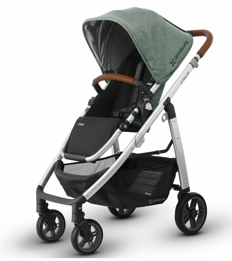 UPPAbaby 2018 Cruz Stroller - Emmett (Green Melange/Silver/Saddle Leather)