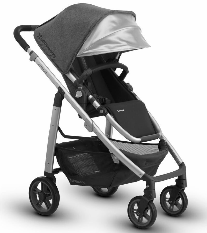 UPPAbaby 2018 Cruz Stroller - Jordan (Charcoal Mélange/Silver/Black Leather) (OPEN BOX)