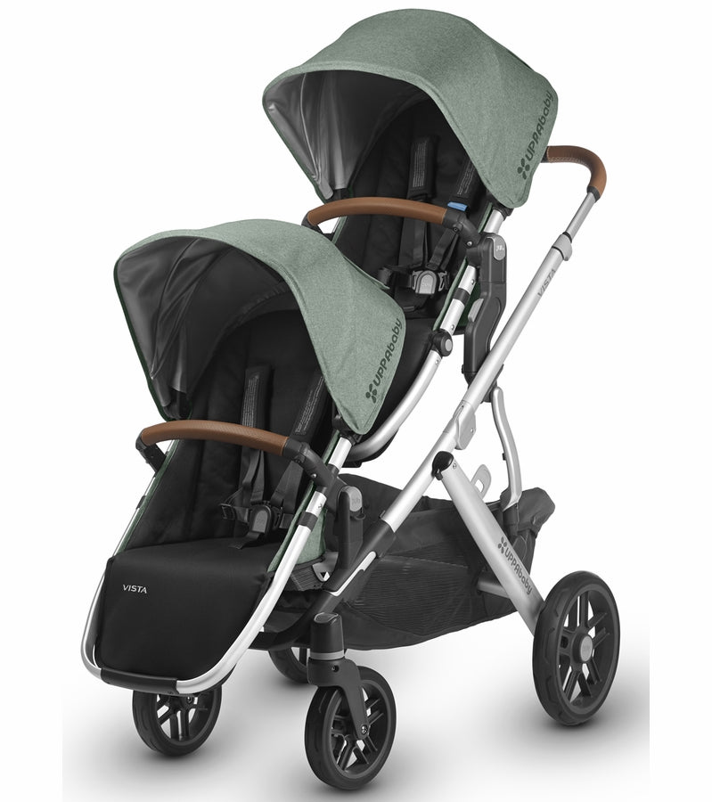 UPPAbaby 2018 VISTA RumbleSeat - Emmett (Green Melange/Silver/Saddle Leather)