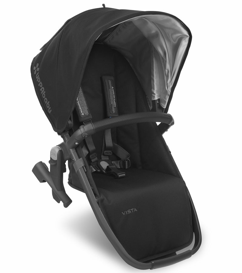 UPPAbaby 2018 VISTA RumbleSeat - Jake (Black/Carbon/Black Leather)