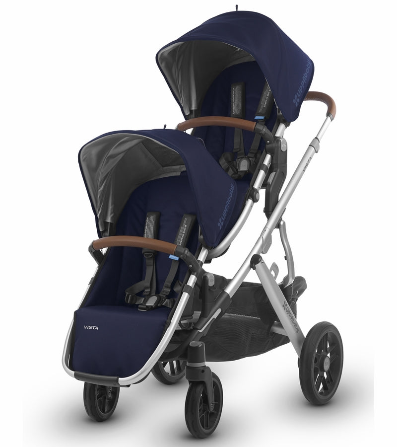 UPPAbaby 2018 VISTA RumbleSeat - Taylor (Indigo/Silver/Saddle Leather)