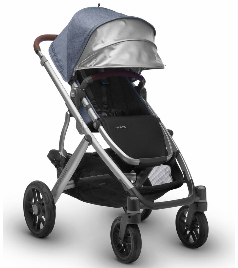 UPPAbaby 2018 Vista Stroller - Henry (Blue Marl/Silver/Saddle Leather)