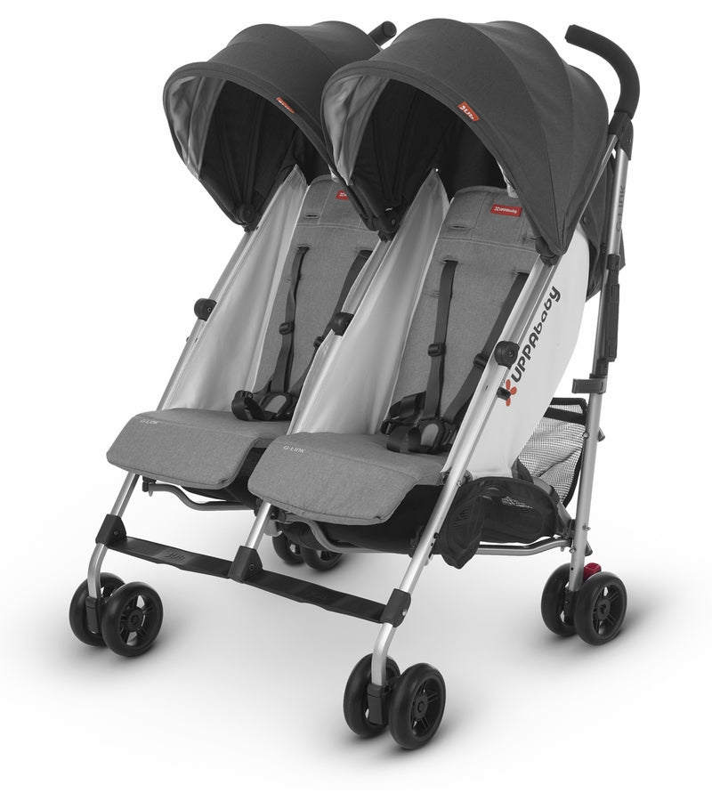 UPPAbaby 2019 G-LINK 2 Double Stroller - Jordan (Charcoal Mélange/Silver)