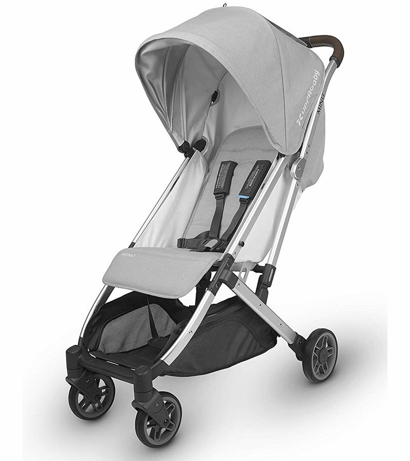 UPPAbaby 2019 MINU Stroller - Devin (Light Grey Mélange/Silver/Chestnut Leather)