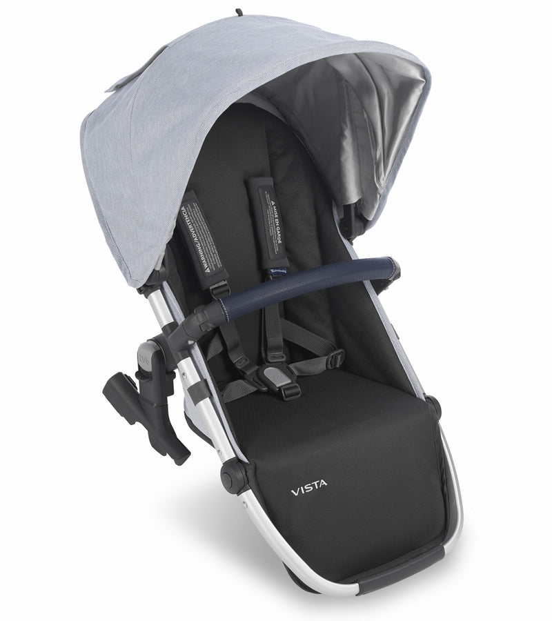 UPPAbaby 2019 VISTA RumbleSeat - William (Chambray Oxford/Silver/Navy Leather) [OPEN BOX]