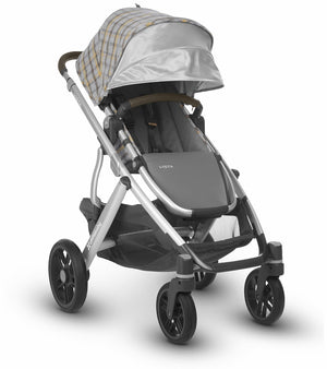 UPPAbaby 2019 VISTA Stroller - Spenser (Grey & Yellow Tartan/Silver/Moss Leather)