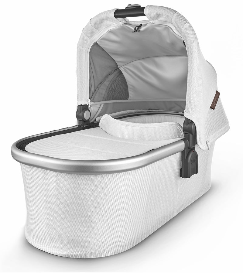 UPPAbaby 2020 Bassinet - Bryce (White Marl/Silver/Chestnut Leather)
