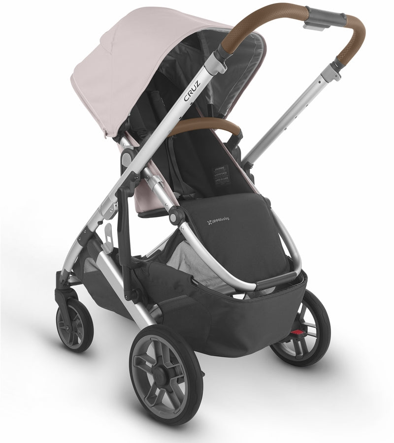 UPPAbaby 2020 Cruz V2 Stroller & Bassinet - Alice (Dusty Pink/Silver/Saddle Leather)