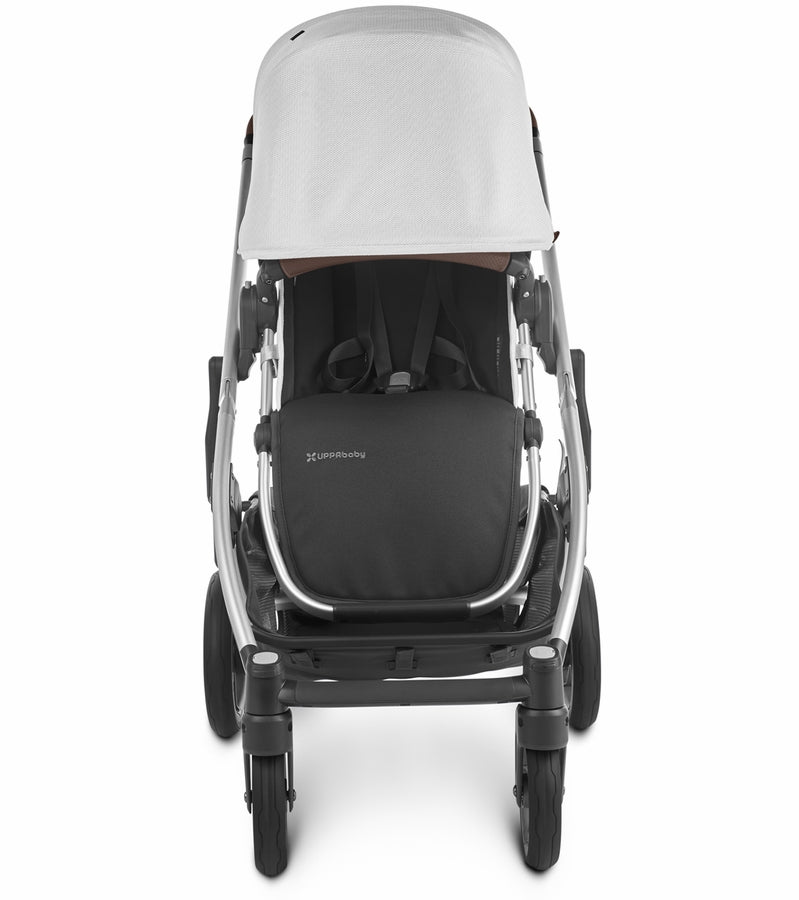UPPAbaby 2020 Cruz V2 Stroller & Bassinet - Bryce (White Marl/Silver/Chestnut Leather)