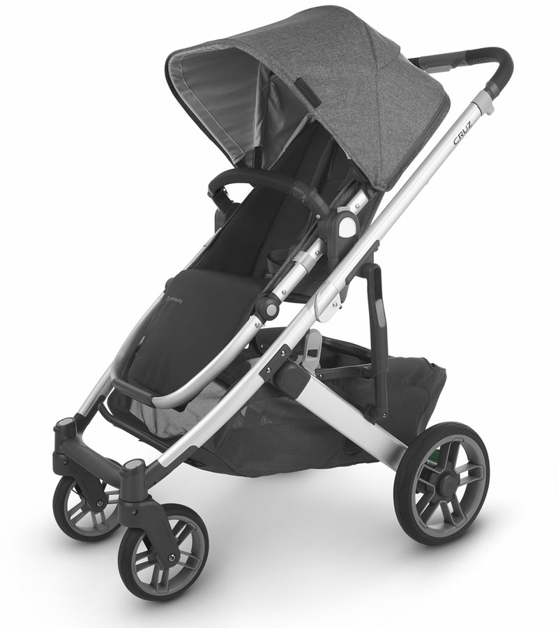 UPPAbaby 2020 Cruz V2 Stroller - Jordan (Charcoal Mélange/Silver/Black Leather)