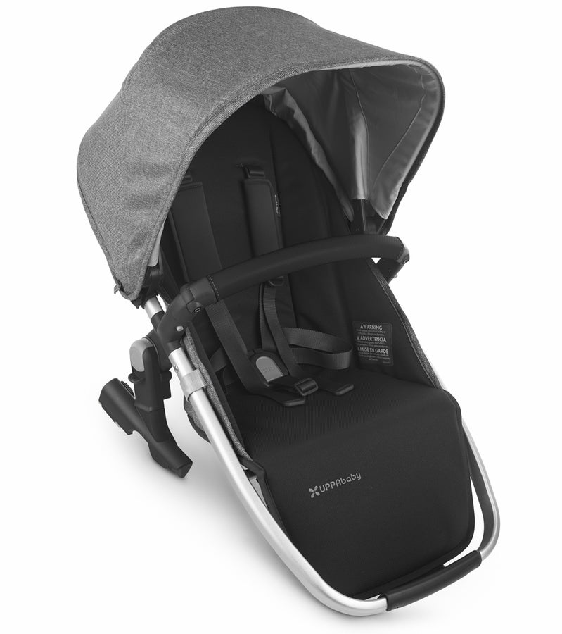 UPPAbaby 2020 Rumbleseat V2 - Jordan (Charcoal Mélange/Silver/Black Leather)