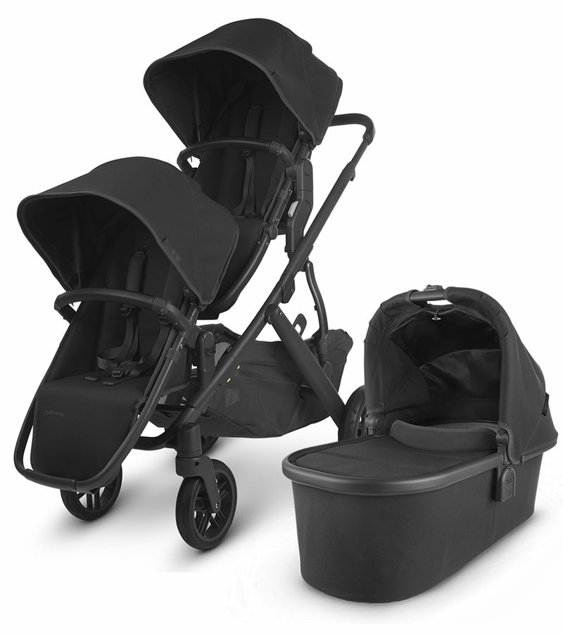 UPPAbaby 2020 Vista V2 Double Stroller - Jake (Black/Carbon/Black Leather)