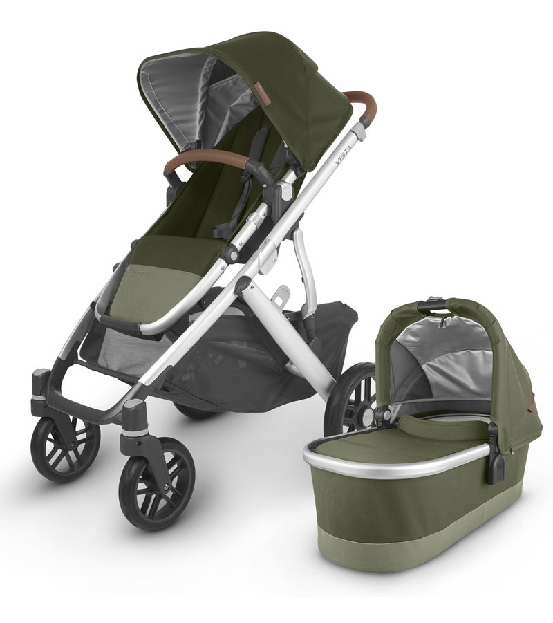 UPPAbaby 2020 Vista V2 Stroller - Hazel (Olive/Silver/Saddle Leather)