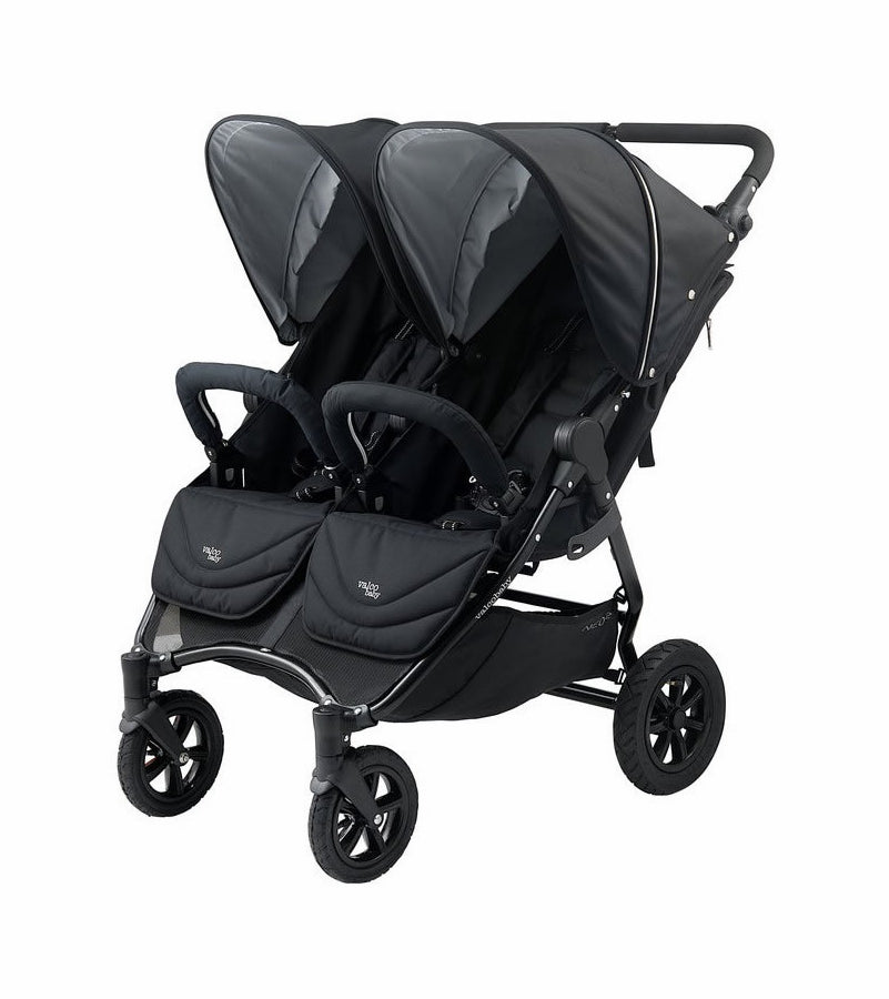 Valco Baby Neo Twin Double Stroller - Black Lightning
