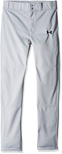Under Armour Boys' Clean Up Baseball Pants, Baseball Gray, Youth X-Small