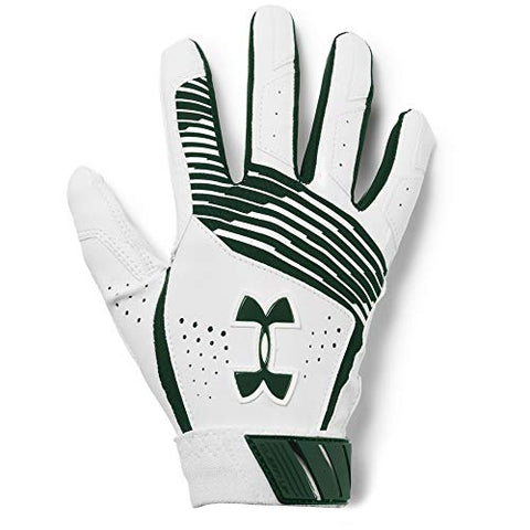 Under Armour Boy's Clean Up Baseball Batting Gloves, Forest Green (301)/Forest Green, Youth Small