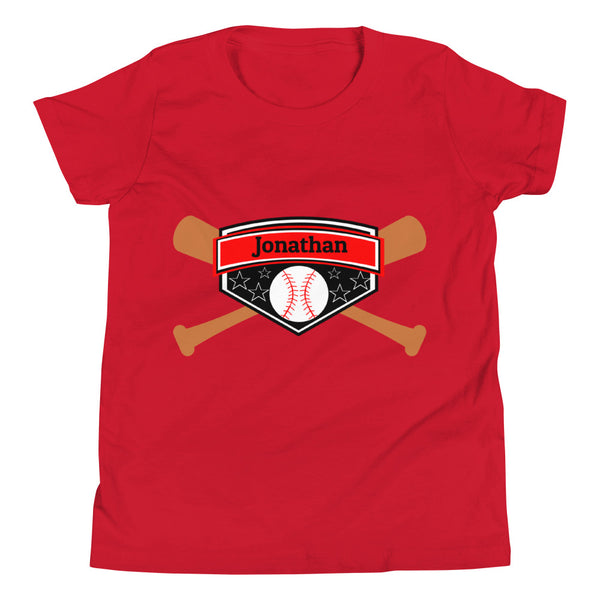 Customizable Youth Baseball Short Sleeve T-Shirt