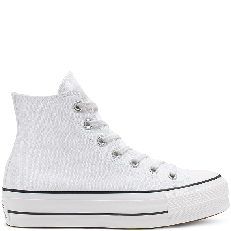 All Star Platform Hi White