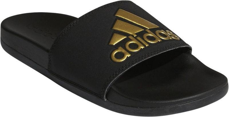 Adilette Logo Black Gold