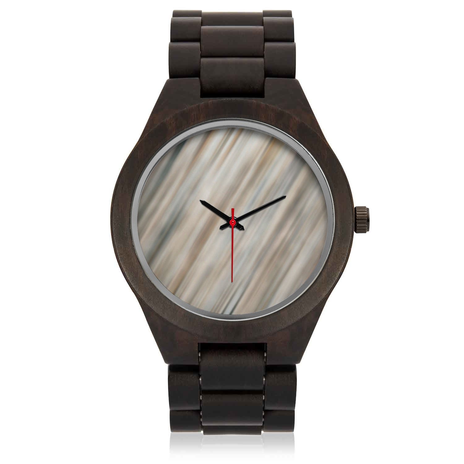 Engraved Wood Watch | Stripe Wood Face