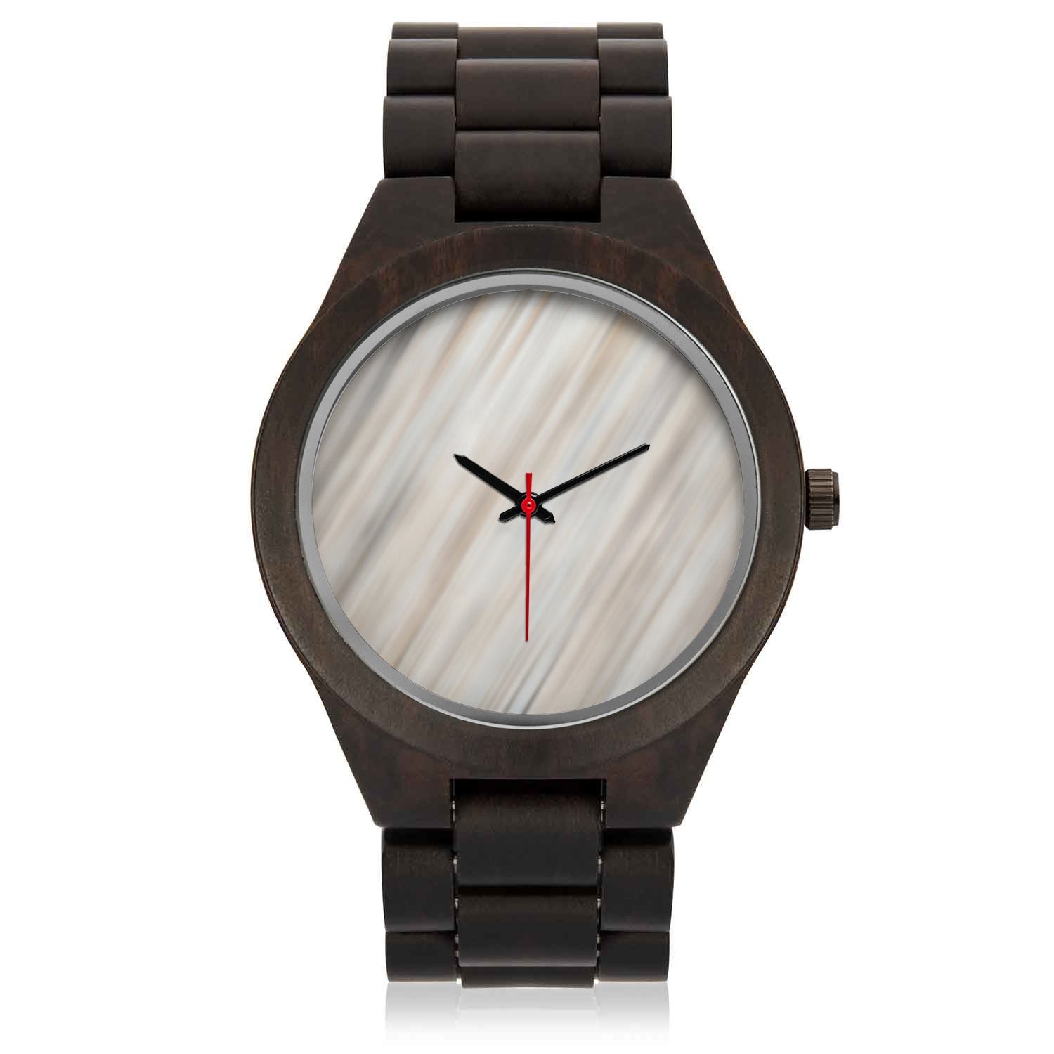 Engraved Wood Watch | Whitewashed Face