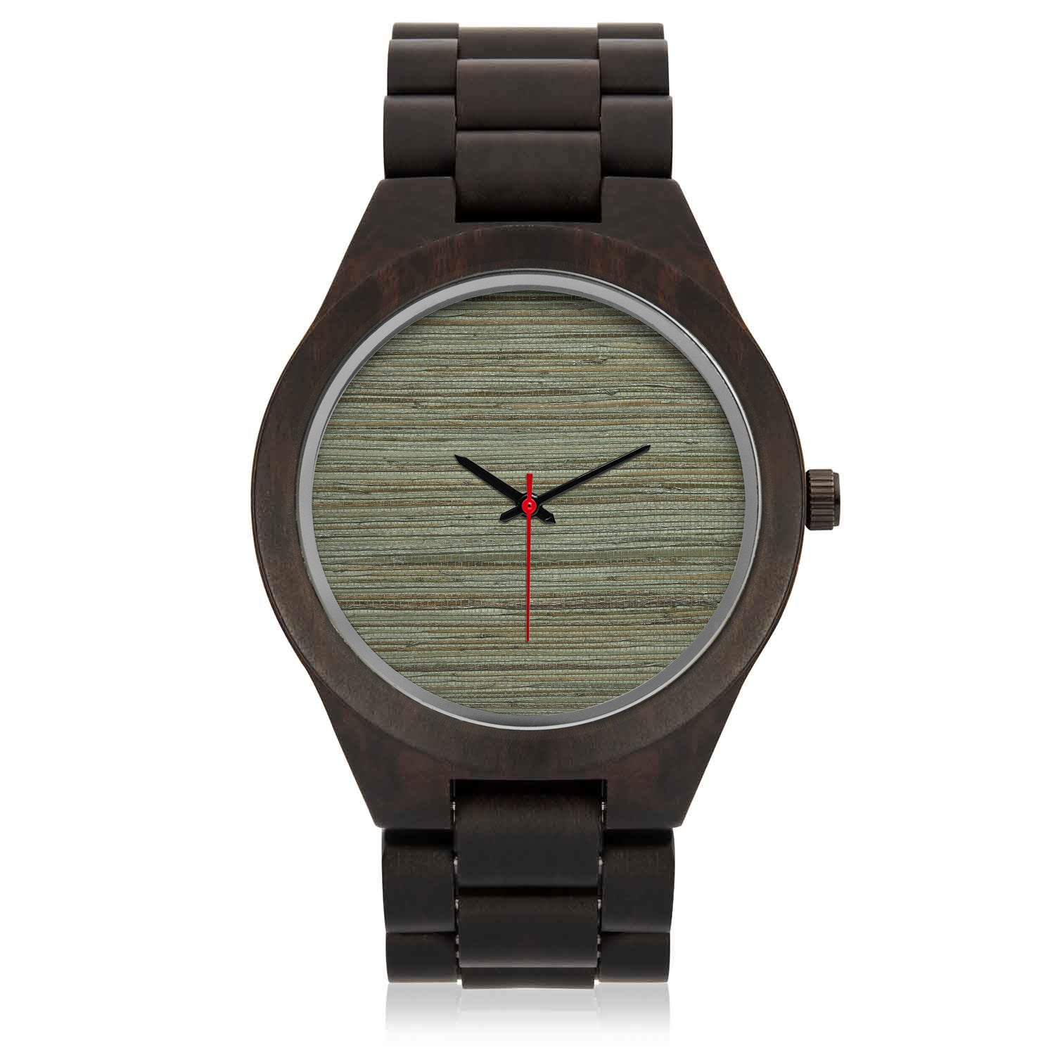 Engraved Wood Watch | Green Hint Wood Face