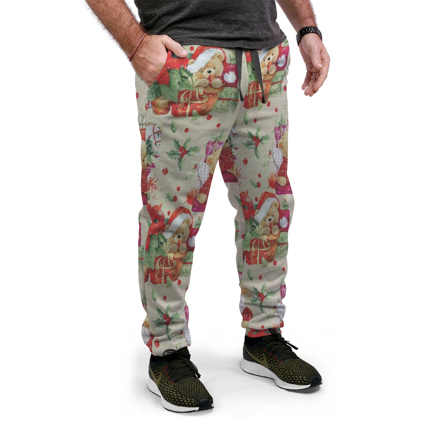Ugly Christmas Sweat-PANTS | Presents and Bear Design
