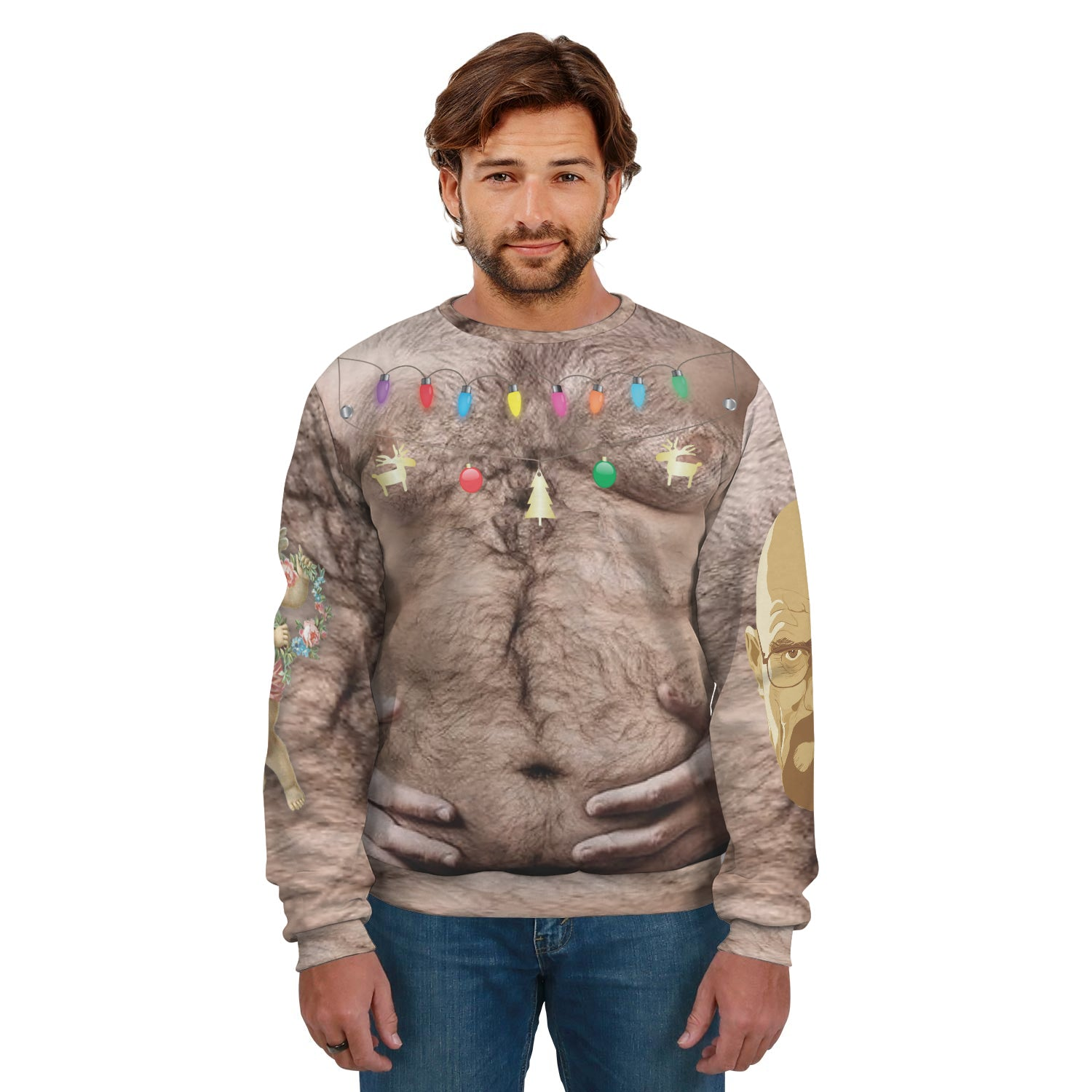 Festive Hairy Dude 2 Ugly Sweater