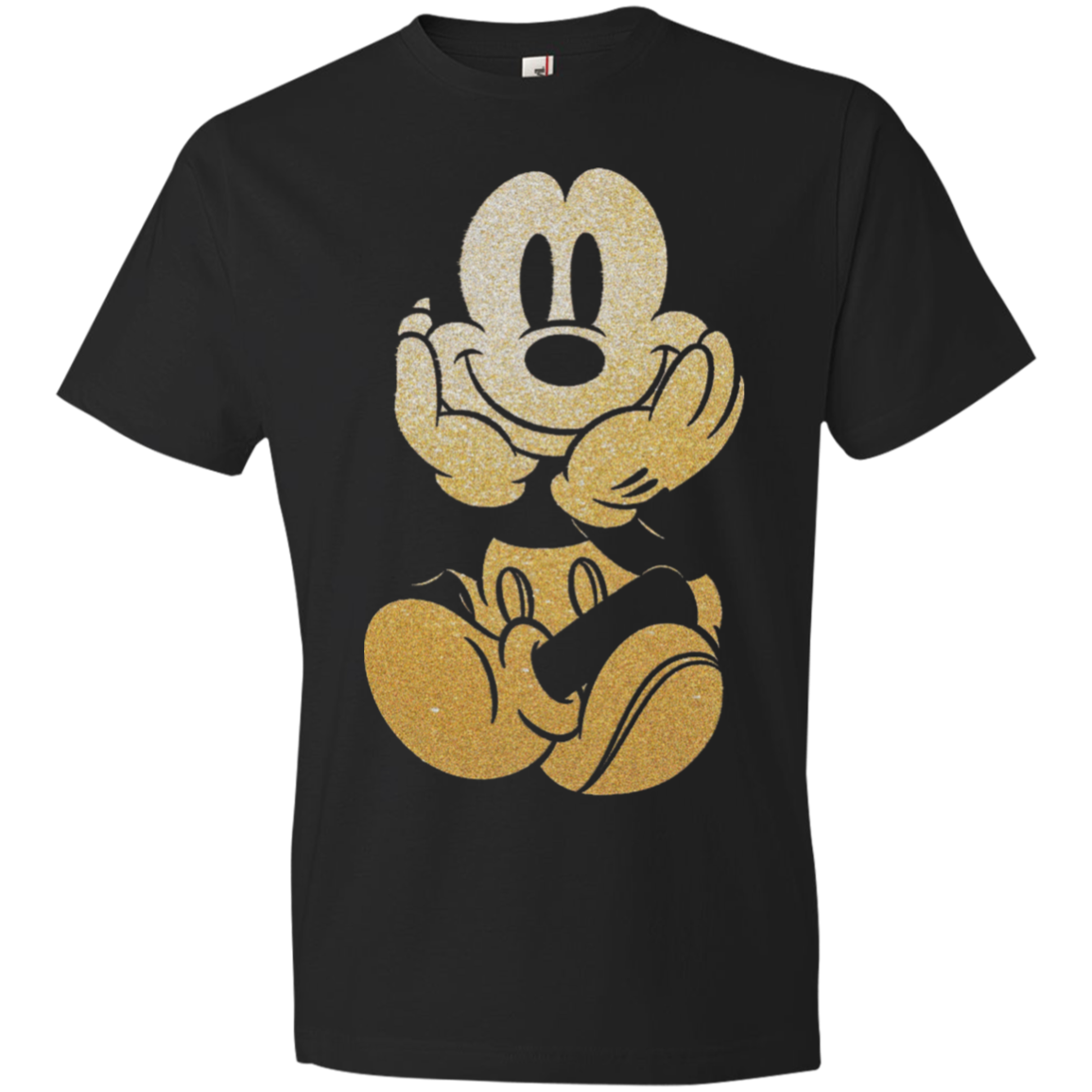 Gold Sparkle Mickey Mouse Youth/Adult