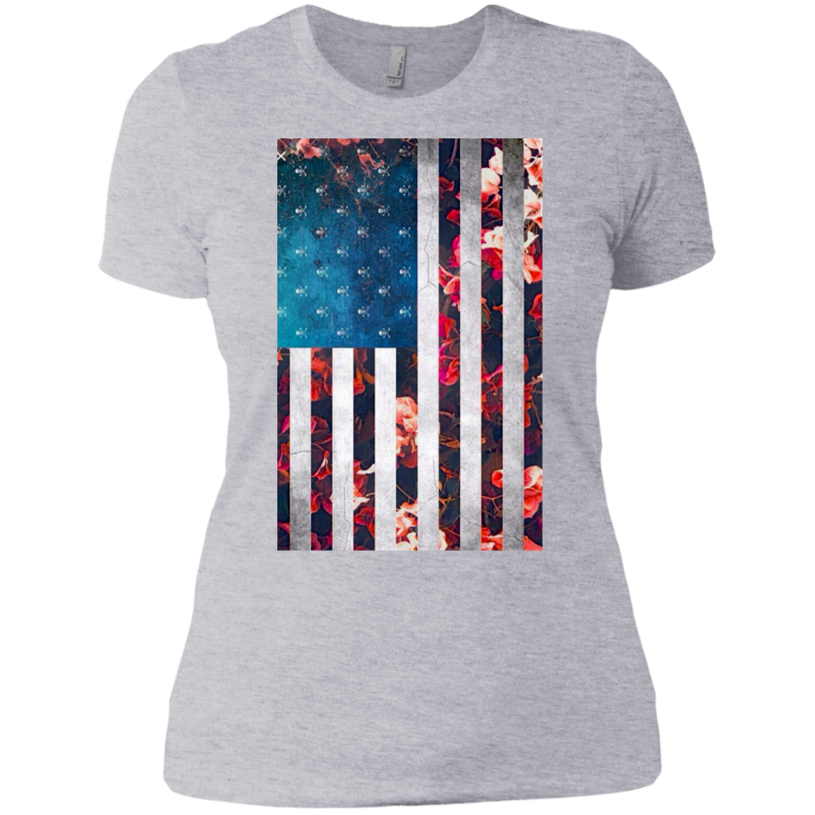 Pretty Girly American Flag With Skulls