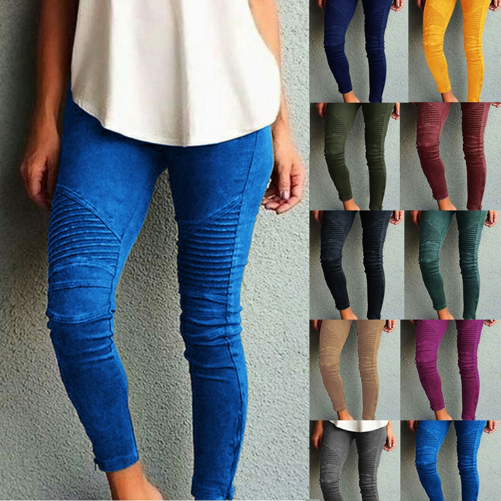 High Waist Skinny Stretch Jeans Regular + Plus Sizes