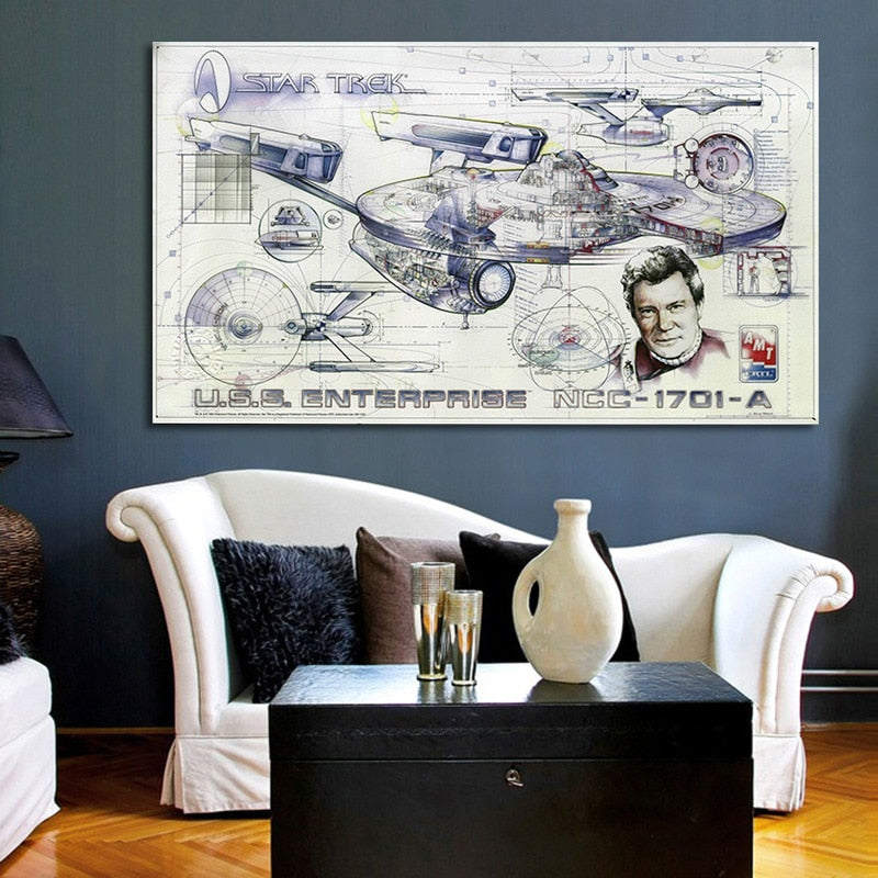 Star Trek Spaceship Blueprint Canvas