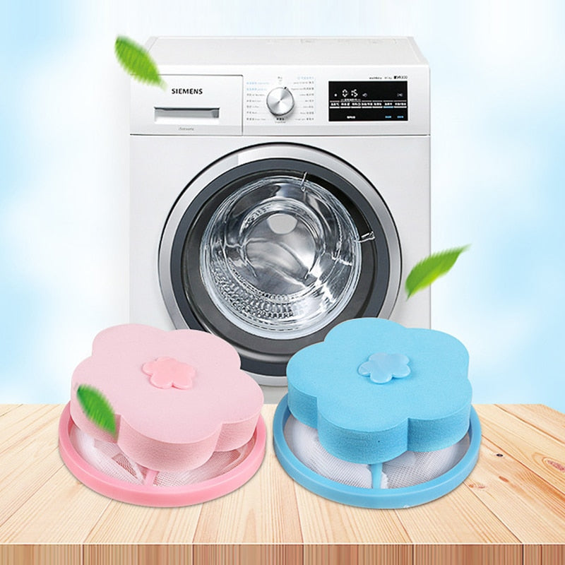 Floating Style Laundry Artifact Laundry Ball Flower Shape Mesh Filter Bag Floating Lint Hair Catcher Dirt Catch Washing Machine
