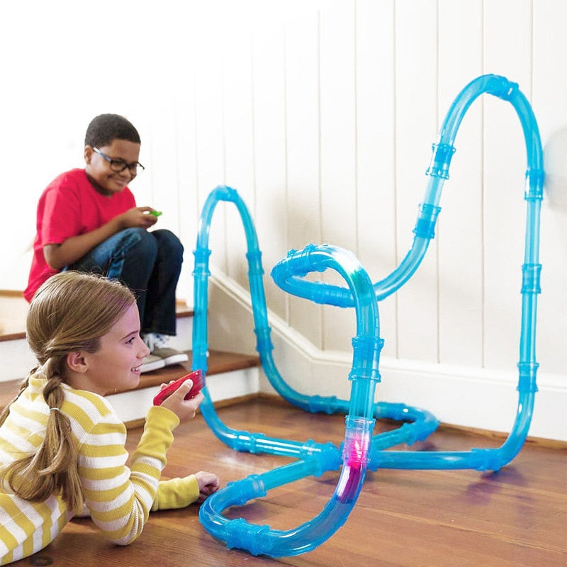 Remote Control Car With Pipeline Track
